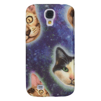 cat face - cat - funny cats - cat space samsung galaxy s4 cases