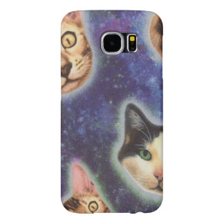 cat face - cat - funny cats - cat space samsung galaxy s6 cases