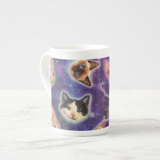 cat face - cat - funny cats - cat space tea cup