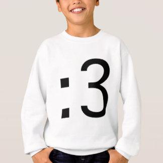 Cat Face Emoticon :3 Sweatshirt