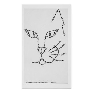 CAT FACE, made of LITTLE PEOPLE FACES Poster