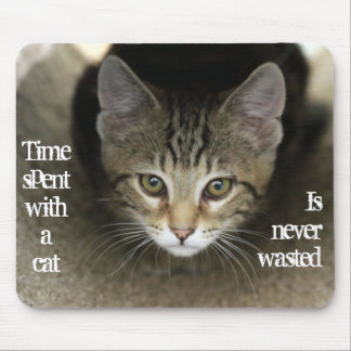 Cat Face Mouse Pad with Message