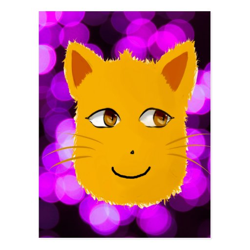 Cat Face Post Card