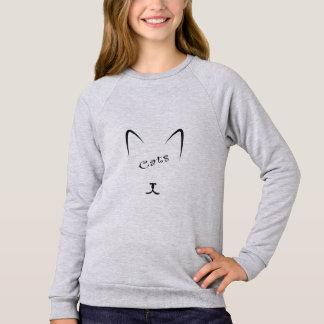 cat face silhouette sweatshirt