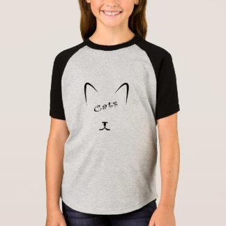 cat face silhouette T-Shirt