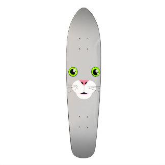 Cat Face Skate Deck