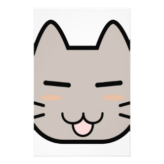 Cat Face Stationery