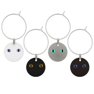 Cat Face Wine Charms