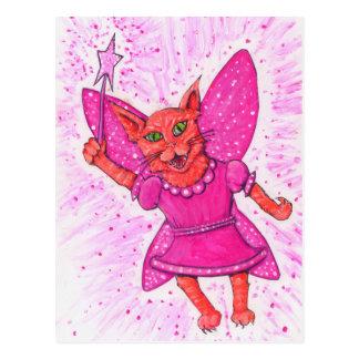 Cat Fairy Postcard