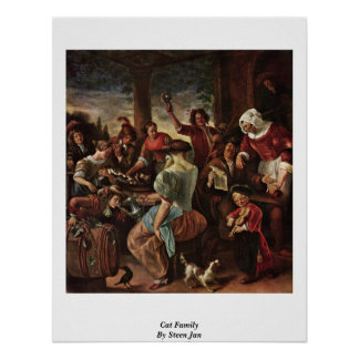 Cat Family By Steen Jan Print