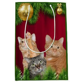 Cat family Christmas Medium Gift Bag