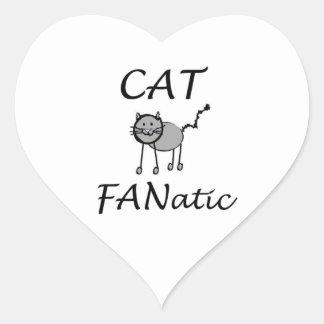 Cat fanatic heart sticker