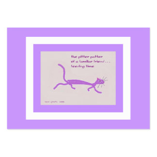 Cat - Feeding Time ACEO Haiku Art Trading Card Pack Of Chubby Business Cards