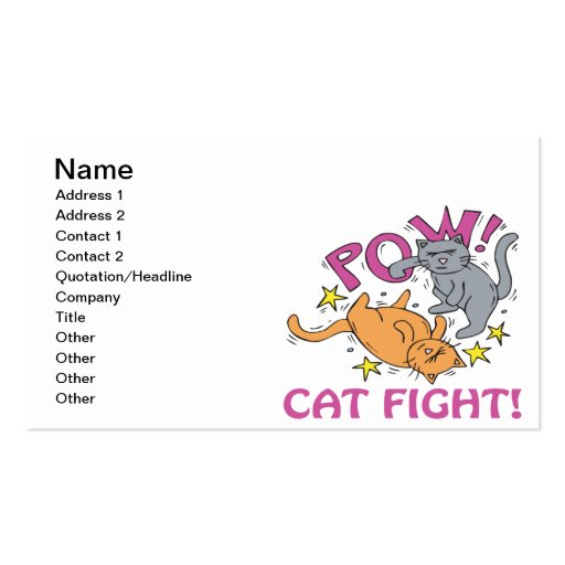 Cat Fight Business Card