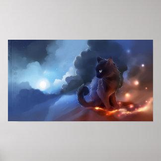 Cat Fire Poster