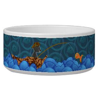 Cat Fishing Pet Dish Pet Food Bowl