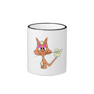Cat Fixing Whiskers Mug
