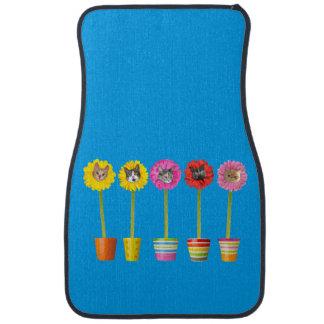 """""""Cat Flower"""" Garden LOL Cat Mats (Front Set of 2) Floor Mat"""