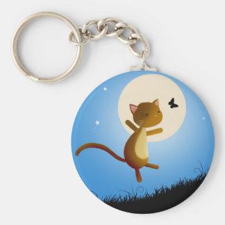 cat follow your dreams - keychain