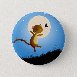 cat follow your dreams - pin badge