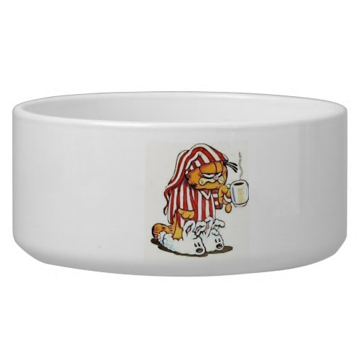 Cat food dish dog water bowl