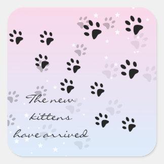 Cat Footprints Square Sticker