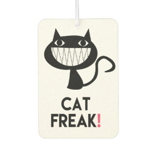 Cat Freak! Fun Car Air Freshener