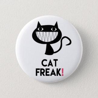 Cat Freak! Fun Round Button
