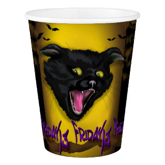CAT FRIDAY 13 CUTE Paper Cup, 9 oz Paper Cup
