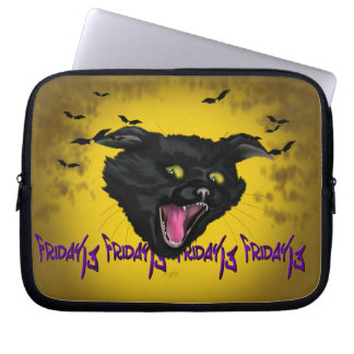 CAT FRIDAY 13 Electronics Bag 10""