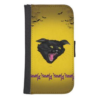 CAT FRIDAY 13 Samsung Galaxy S4 Wallet Case