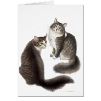 Cat Friends Customizable Greeting Card