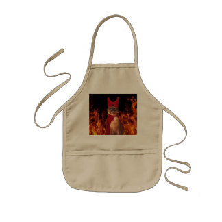 Cat From Hell Kids Apron