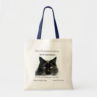 cat gets better health care 1 36 x 36 budget tote bag