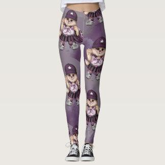 CAT GIRL SCOUT CUTE CARTOON Leggings