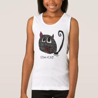 CAT Girls Sportswear Spaghetti Strap Tank Top