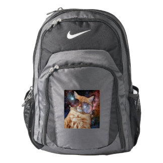 Cat Glasses - sunglasses cat - cat space Backpack