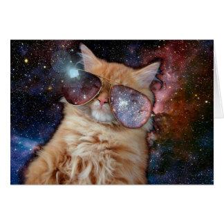 Cat Glasses - sunglasses cat - cat space Card