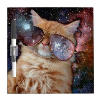 Cat Glasses - sunglasses cat - cat space Dry Erase Board