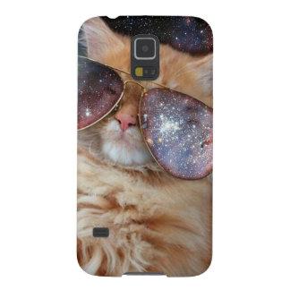 Cat Glasses - sunglasses cat - cat space Galaxy S5 Case