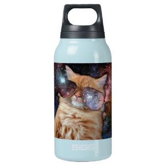 Cat Glasses - sunglasses cat - cat space Insulated Water Bottle