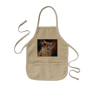 Cat Glasses - sunglasses cat - cat space Kids Apron