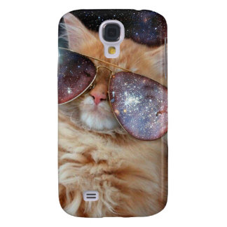 Cat Glasses - sunglasses cat - cat space Samsung Galaxy S4 Covers