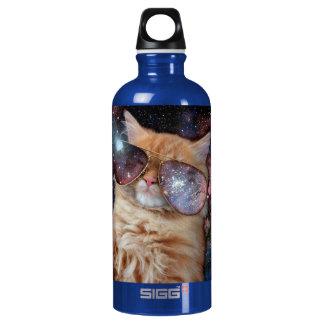 Cat Glasses - sunglasses cat - cat space Water Bottle