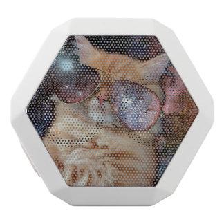 Cat Glasses - sunglasses cat - cat space White Bluetooth Speaker