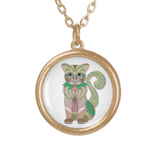 Cat Gold Plated Necklace