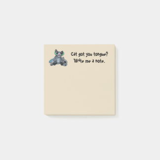 Cat got your tongue Post-it-note Post-it Notes