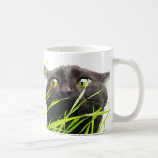 Cat & Grass Coffee Mug