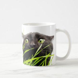 Cat & Grass Coffee Mugs