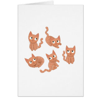 Cat greeting card fully customisable